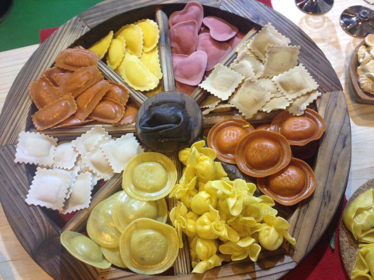 Pasta italiana, en uno de los 'stands' del Salón de Gourmets.