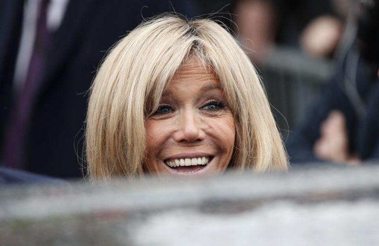 La primera dama de la república de Francia, Brigitte Trogneux