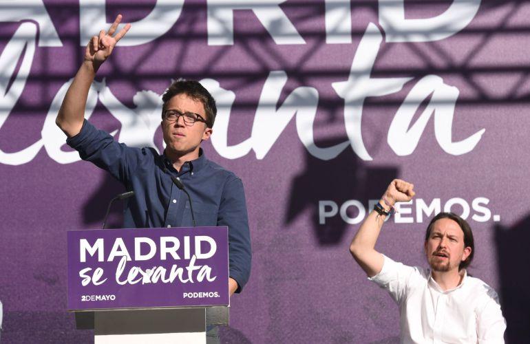 Los dirigentes de Podemos Íñigo Errejón y Pablo Iglesias