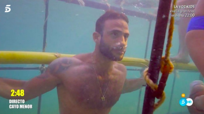 Eliad Cohen llega al límite en la prueba de apnea de 'Supervivientes'