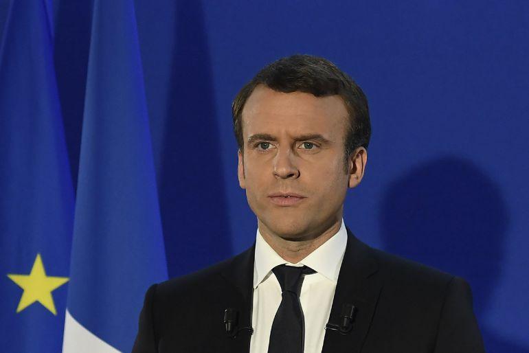 Emmanuel Macron pronuncia sus primeras palabras tras vencer en las presidenciales.