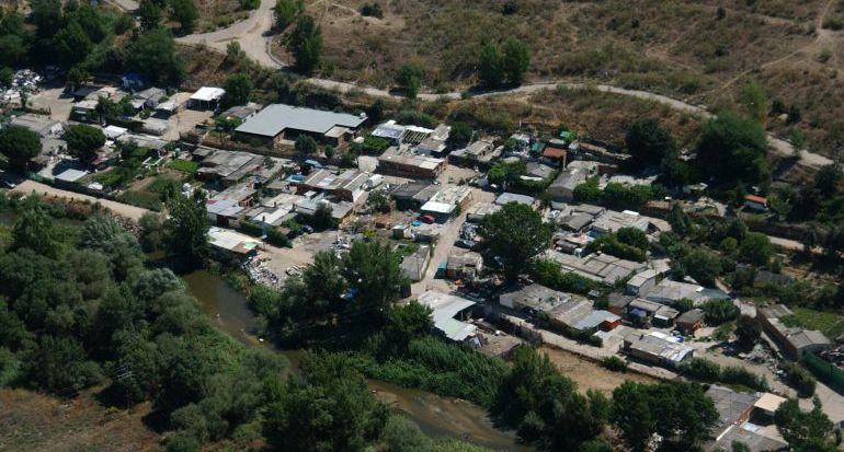 Vista aérea del poblado de Las Sabinas