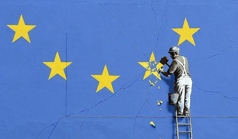 Vista del mural de Bansky sobre la salida de Reino Unido de la Unión Europea (UE)