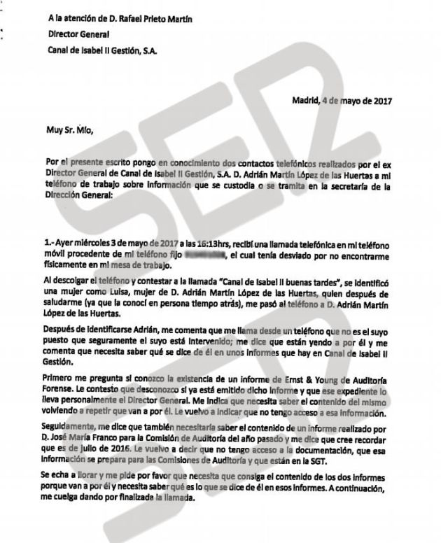 Segunda denuncia es de un administrativo del Canal por órdenes para eliminar de la base de datos las reuniones