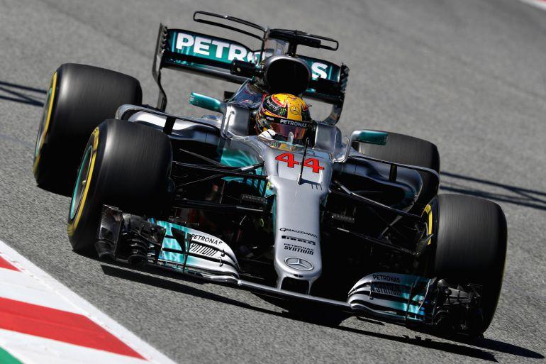 Lewis Hamilton, en el GP de España.