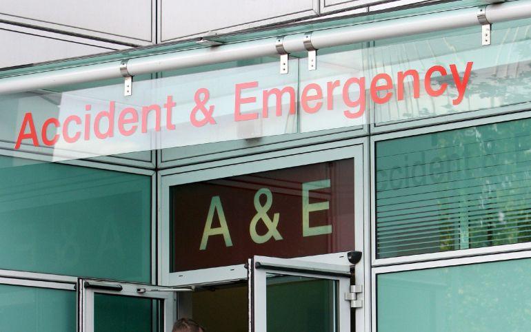 La entrada a las emergencias de un hospital del centro de Londres