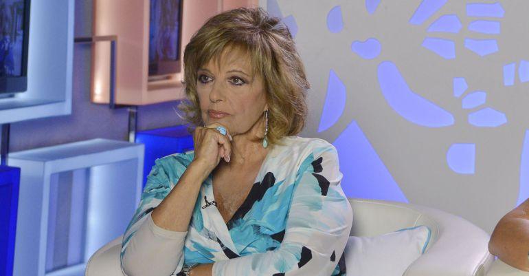 María Teresa Campos, durante un programa en Telecinco