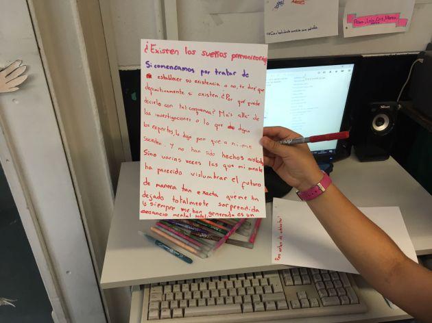 Las conclusiones escritas por uno de los equipos.