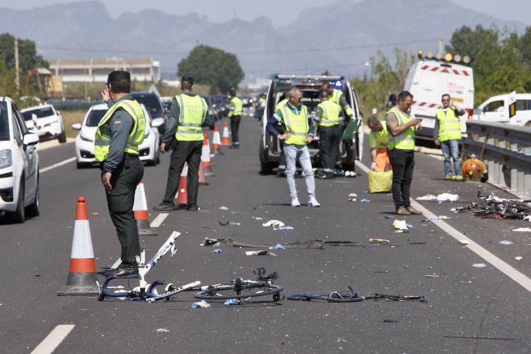 Accidente de Oliva donde una conductora arrolló a un pelotón de ciclistas
