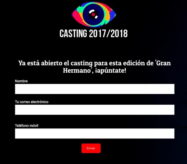 Formulario para el casting falso de 'GH 18'