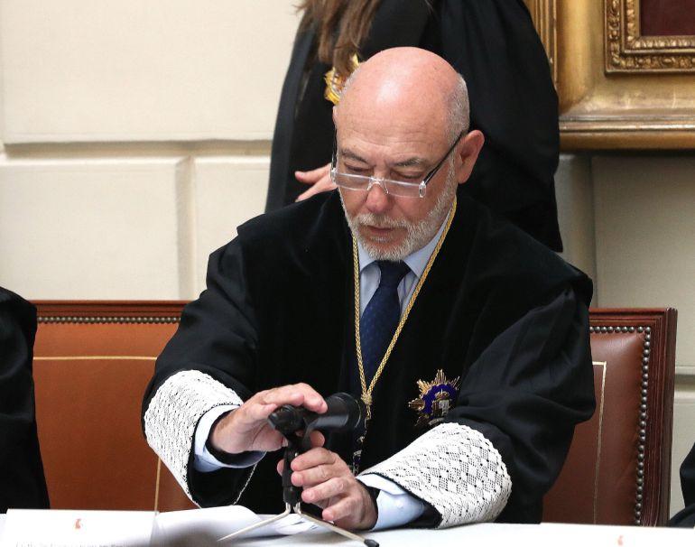El fiscal general del Estado, José Manuel Maza, en una imagen de archivo durante la toma de posesión de nuevos fiscales el pasado 11 de mayo.