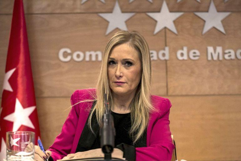Fotografía de archivo de la presidenta de la Comunidad de Madrid, Cristina Cifuentes
