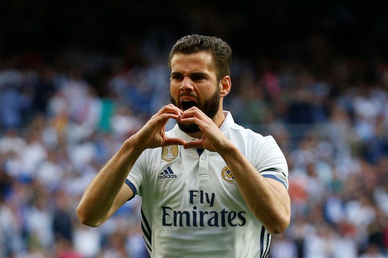Nacho celebra su gol ante el Sevilla