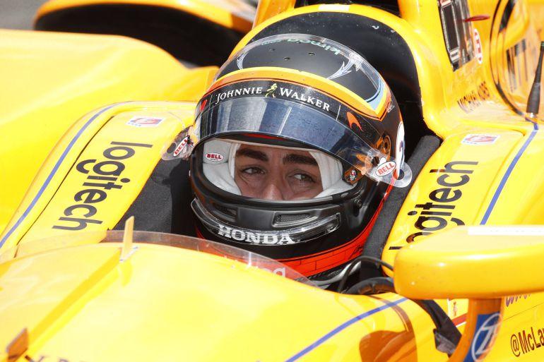 Fernando Alonso en la jornada de ayer.