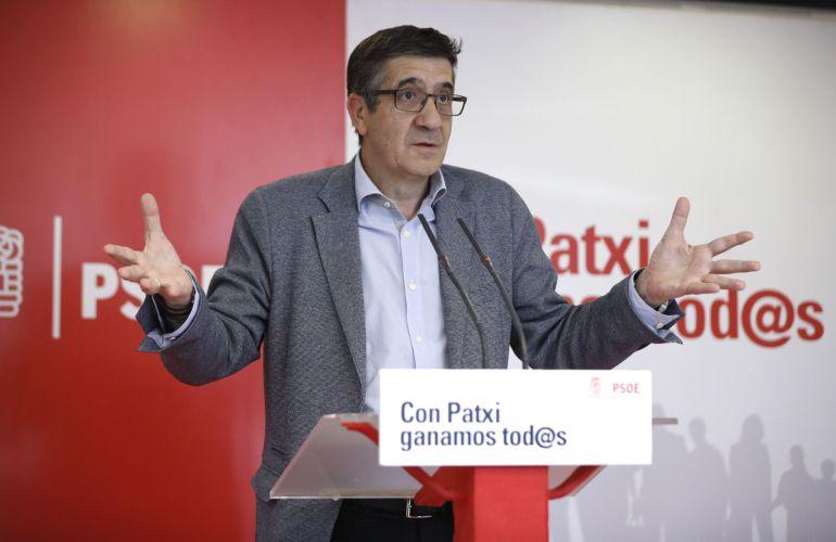 El exlehendakari y candidato a las primarias del PSOE, Patxi López.