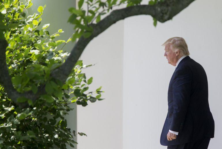 El presidente de EEUU, Donald Trump, en la Casa Blanca