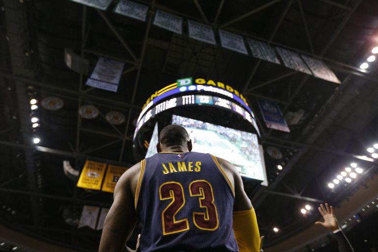 LeBron James, en el TD Garden de Boston