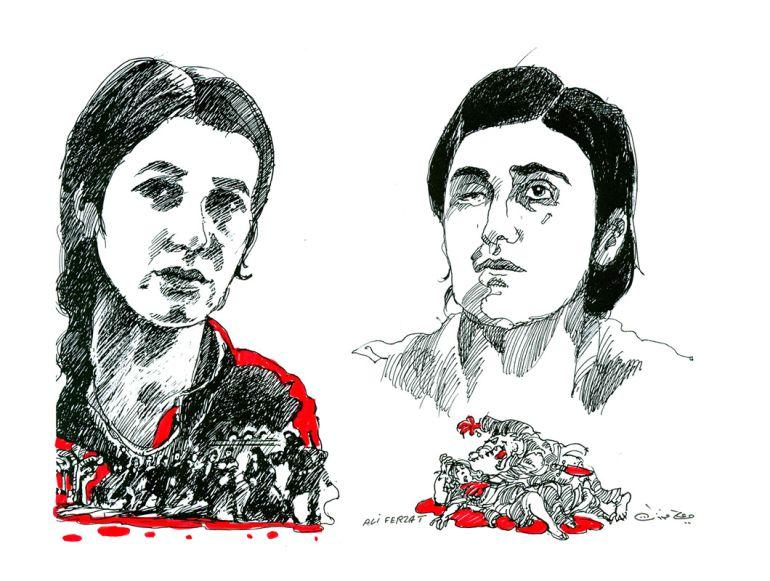 Ilustración de Ali Ferzat para el Parlamento Europeo