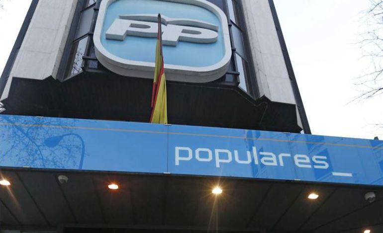 Imagen de la fachada del PP en la calle Génova, en Madrid.