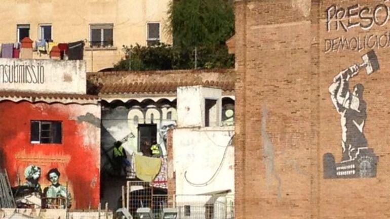 La 'Kasa de la Muntanya' de Barcelona durante la primera fase de la 'operación Pandora' en 2014