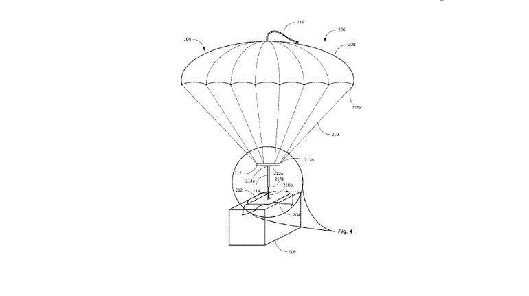 El paracaídas se encargaría de llevar el paquete a su destino.