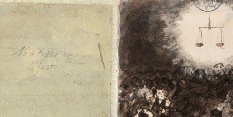 Manuscrito de Goya descubierto por el Prado