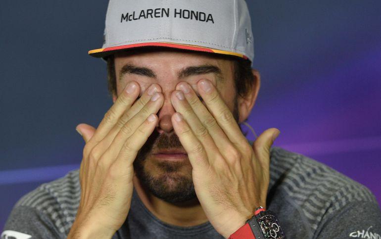 Fernando Alonso durante una rueda de prensa