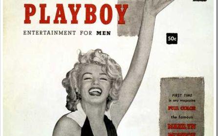 Primer número de la revista Playboy. En portada Marilyn Monroe.