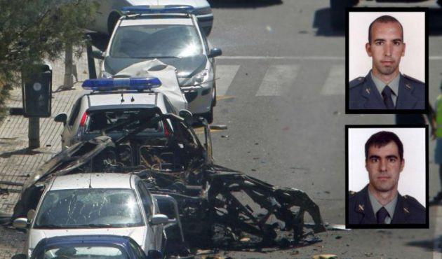 Diego Salvá y Carlos Sáenz de Tejada, muertos por una bomba lapa de ETA.