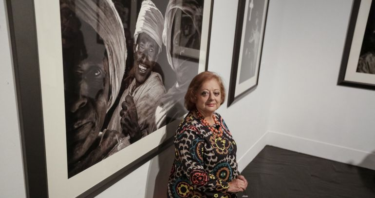 La fotógrafa española Cristina García Rodero, durante la presentación de la exposición que tendrá en el festival PhotoEspaña 2017
