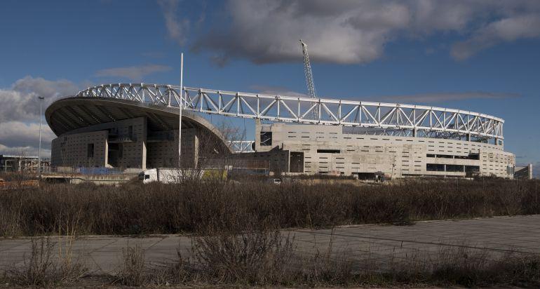 Imagen del Wanda Metropolitano a pocos meses de empezar la Liga 2017 - 2018