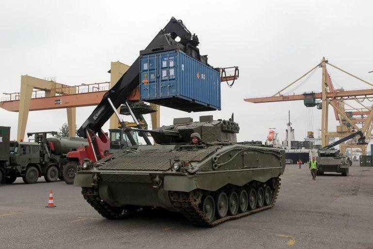 tanques espa oles llegan a letonia internacional