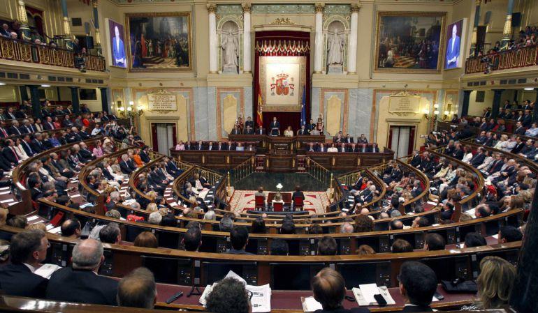 El Congreso de los Diputados durante un pleno