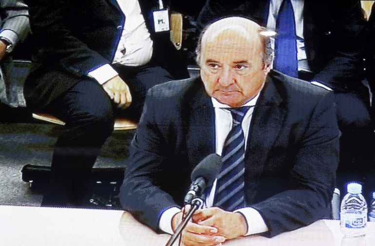 El exgerente del PP de Madrid Beltrán Gutiérrez, durante el juicio de las tarjetas opacas de Caja Madrid