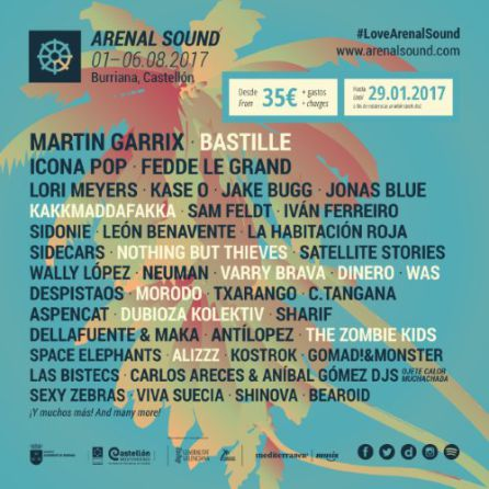 Cartel Arenal Sound 2017.