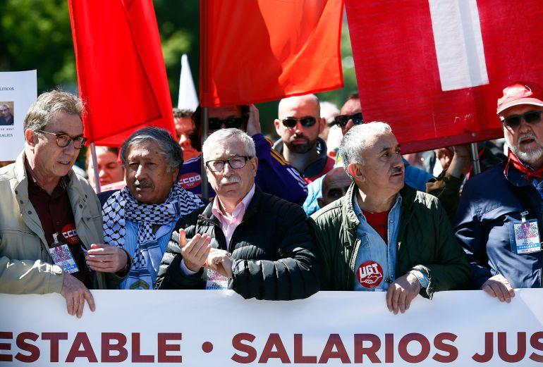 Marcha de los sindicatos el pasado 1 de mayo, Día de los Trabajadores.