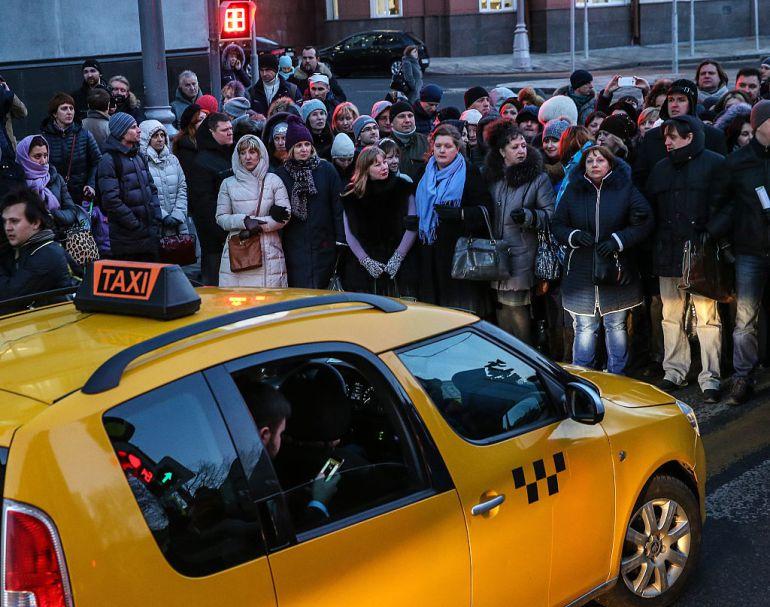 Uno de los taxis de servicio en Moscú