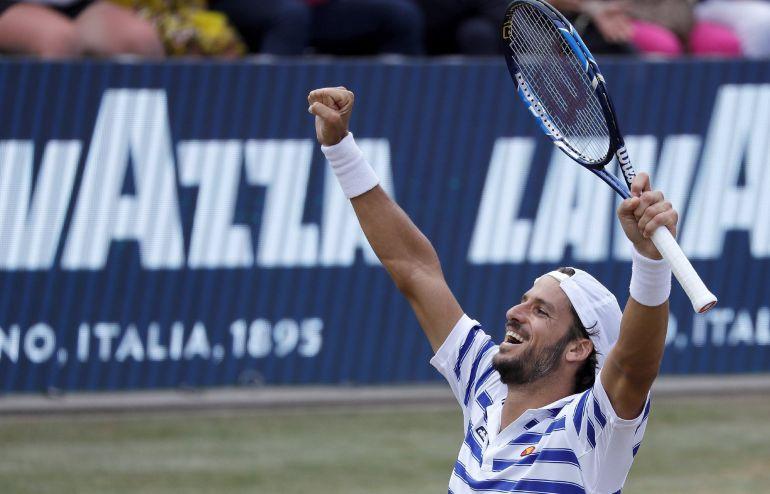 Feliciano celebra su victoria ante Zverev