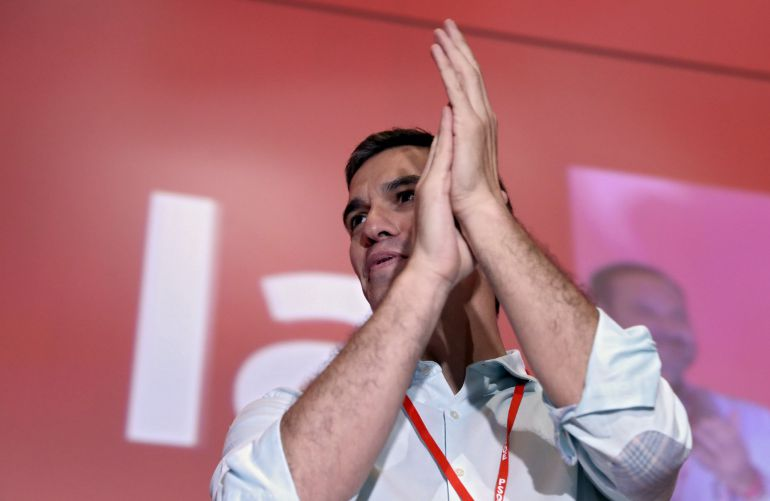 El líder del PSOE, Pedro Sánchez, momentos antes del comienzo del Congreso Federal del PSOE