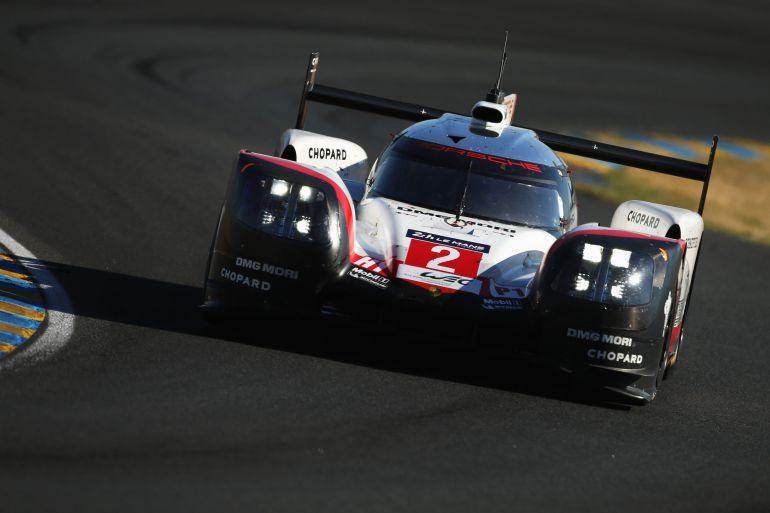 El Porsche nº2 en las 24 horas de Le Mans