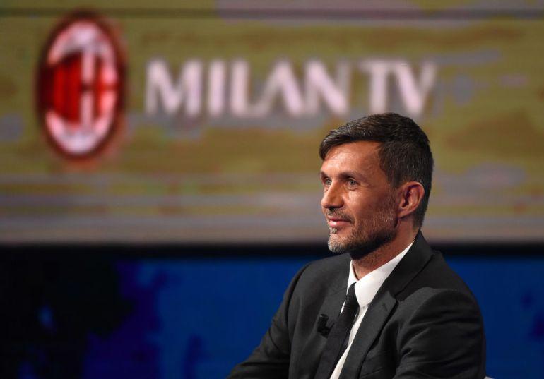Maldini en un acto del AC Milan