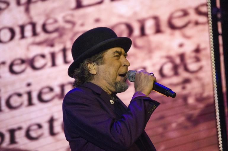 Joaquín Sabina durante el concierto que ofreció en Úbeda