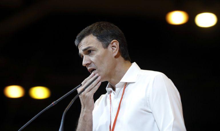 Pedro Sánchez, nuevo secretario general del PSOE, durante el acto de clausura del Congreso Federal del partido.