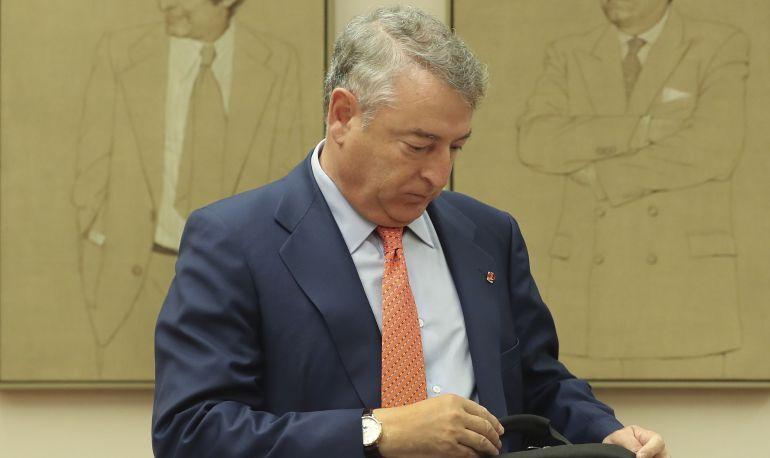 El presidente de Radio Televisión Española (RTVE), José Antonio Sánchez, comparece ante la Comisión de Presupuestos del Congreso.