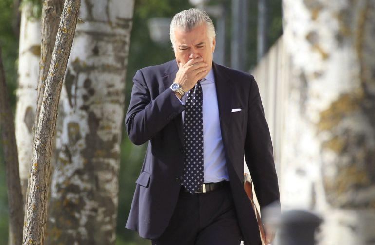 Luis Bárcenas a su llegada a la Audiencia Nacional.