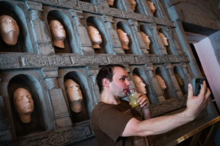 Imagen captada por uno de los clientes en la Sala de los rostros.