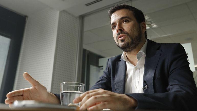 El coordinador federal de IU, Alberto Garzón.