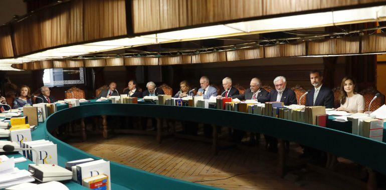 Reunión del pleno de la RAE en Madrid.