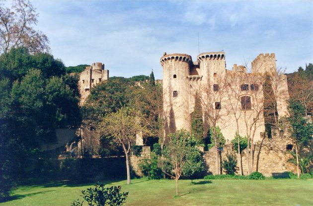 El castillo de Santa Florentina, ubicado en el municipio de Canet de Mar.