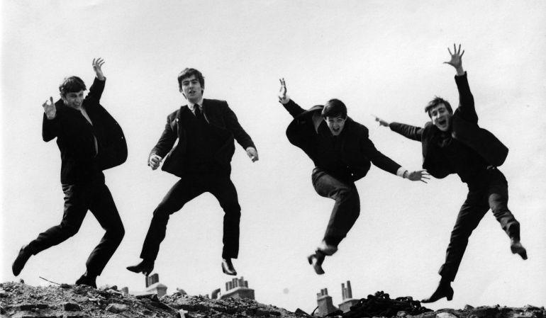 El famoso cuarteto en una divertida fotografía.